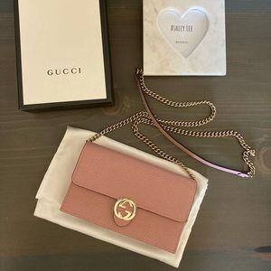 Gucci Interlocking GG Pink WOC Crossbody